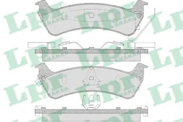 Колодки тормозные задние LPR / AP 05P59505P595