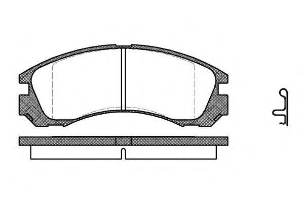 Колодки тормозные передние с датчиком Road House 235422235422