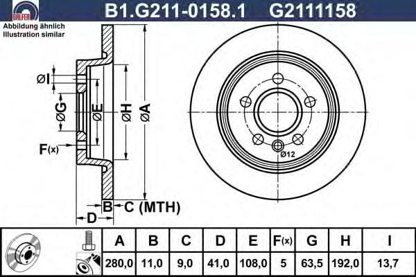 Диск тормозной Galfer B1G21101581B1G21101581