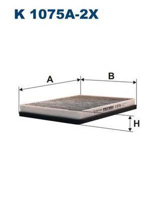 Фильтр салона угольный Filtron,K1075A2xK1075A2x