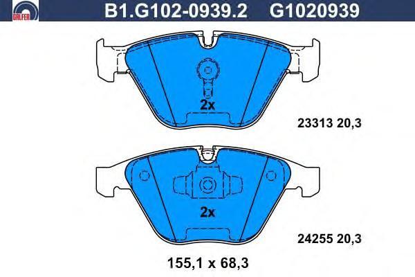 Колодки тормозные Galfer B1G10209392B1G10209392