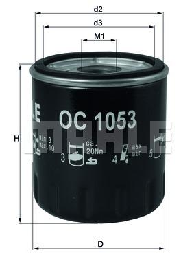 Фильтр масляный Mahle/Knecht OC1053OC1053