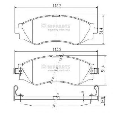 Колодки тормозные передние Nipparts J3600902J3600902