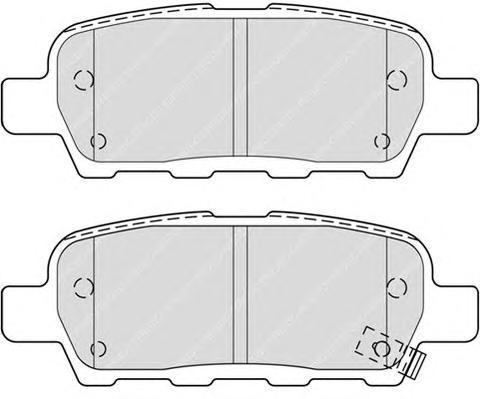 Колодки тормозные дисковые Premier Ferodo FDB4324FDB4324