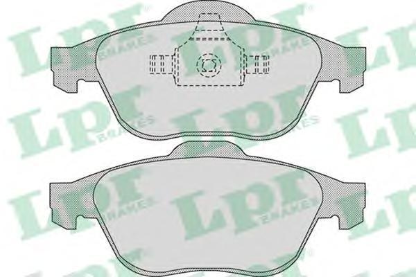 Колодки тормозные LPR / AP 05P89805P898