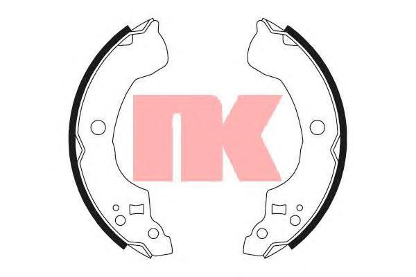 Колодки тормозные барабанные NK 27226942722694