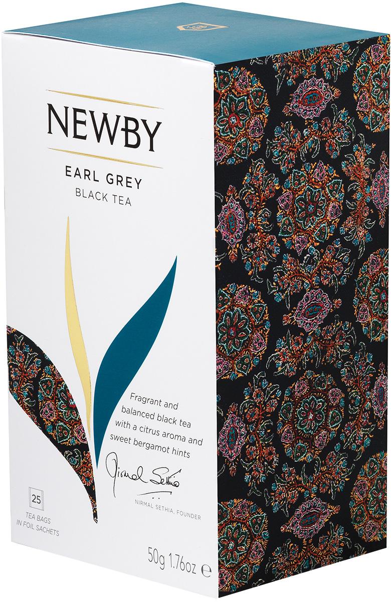 Newby Earl Grey Newby черный чай в пакетиках, 25 шт newby assam черный чай в пакетиках 25 шт