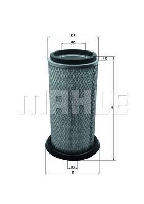 Фильтр воздушный Mahle/Knecht LX822LX822