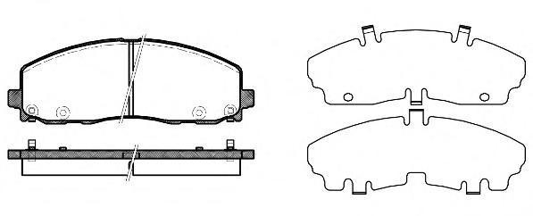 Колодки тормозные передние Remsa 148404148404