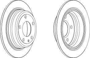 Диск тормозной передний Ferodo DDF1201 комплект 2 штDDF1201