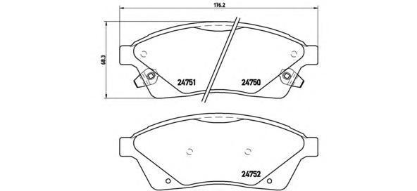 Колодки тормозные передние Brembo P09010P09010