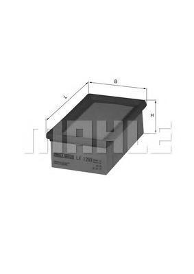 Фильтр воздушный Mahle/Knecht LX1293LX1293