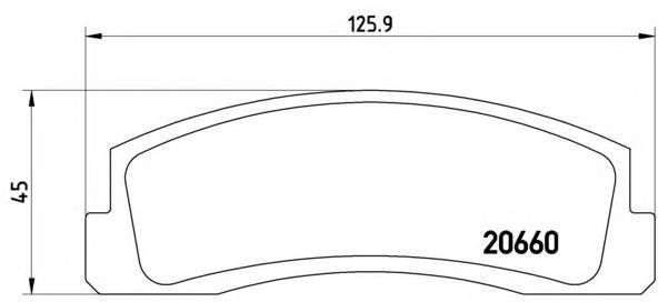 Колодки тормозные передние Brembo P41002P41002