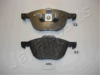 Колодки тормозные дисковые Japanparts PA300AFPA300AF