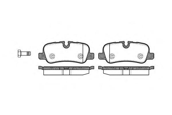 Колодки тормозные дисковые Remsa, комплект. 115900115900