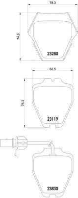 Колодки тормозные дисковые, 4 шт Textar 23280012328001