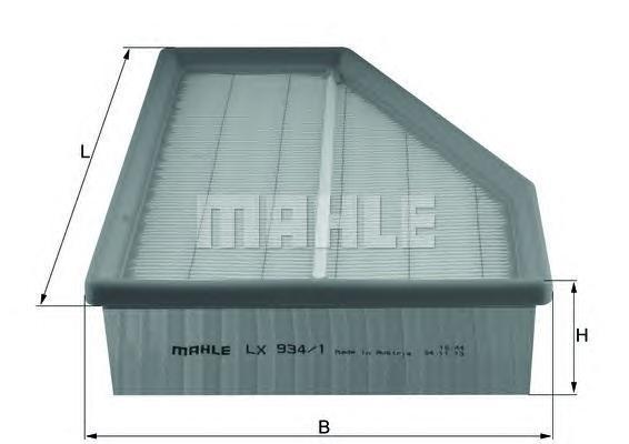 Фильтр воздушный Mahle/Knecht LX9341LX9341