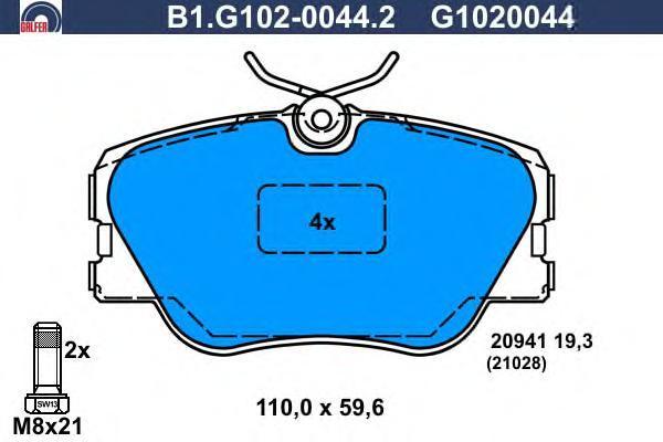 Колодки тормозные дисковые Galfer B1G10200442B1G10200442