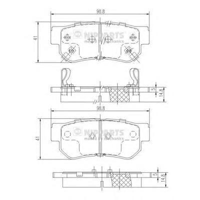 Колодки тормозные задние Nipparts J3610509J3610509