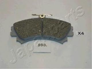 Колодки тормозные дисковые Japanparts PA593AFPA593AF