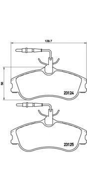 Колодки тормозные передние Brembo P61060P61060