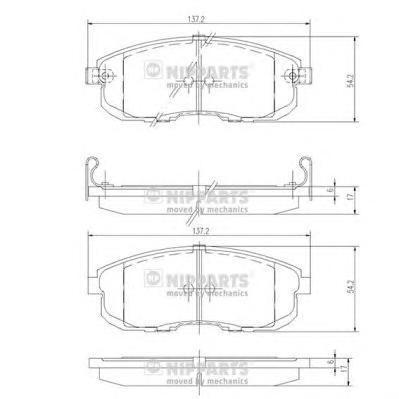 Колодки тормозные передние Nipparts J3601044J3601044