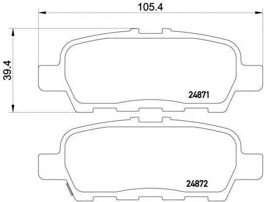 Колодки тормозные задние Textar 24871012487101