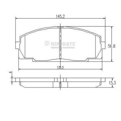 Колодки тормозные передние Nipparts J3602076J3602076