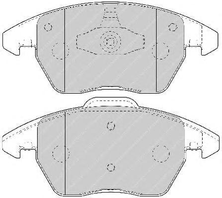 Колодки тормозные дисковые Premier Ferodo FDB1728FDB1728