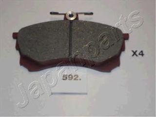 Колодки тормозные дисковые Japanparts PA592AFPA592AF