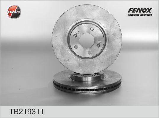 Диск тормозной Fenox TB219311 комплект 2 штTB219311