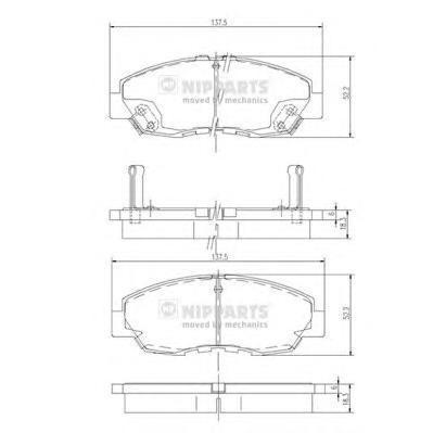 Колодки тормозные передние Nipparts J3604030J3604030