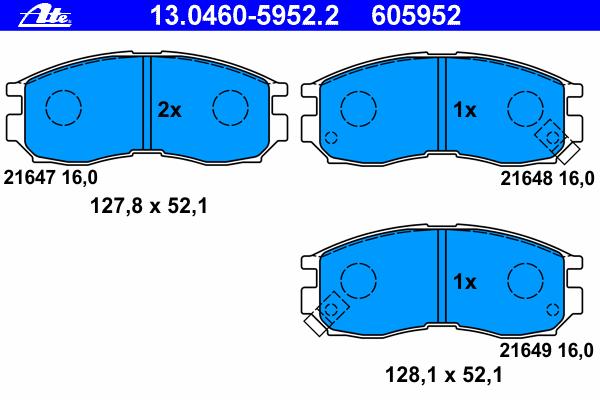 Колодки тормозные Ate 1304605952213046059522