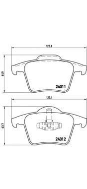 Колодки тормозные задние Brembo P86019P86019