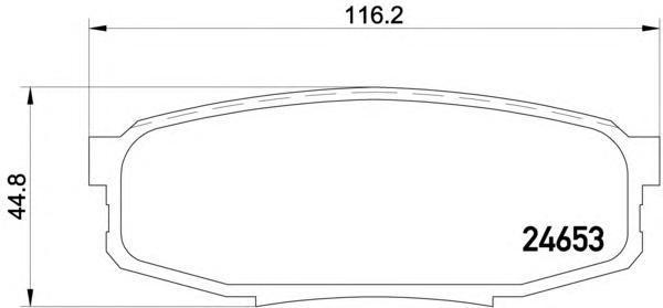 Колодки тормозные дисковые, 4 шт Textar 24653012465301