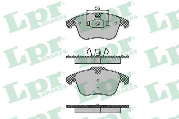 Колодки тормозные передние LPR / AP 05P148005P1480