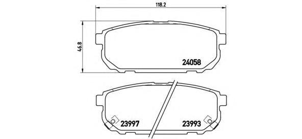 Колодки тормозные задние Brembo P30023P30023