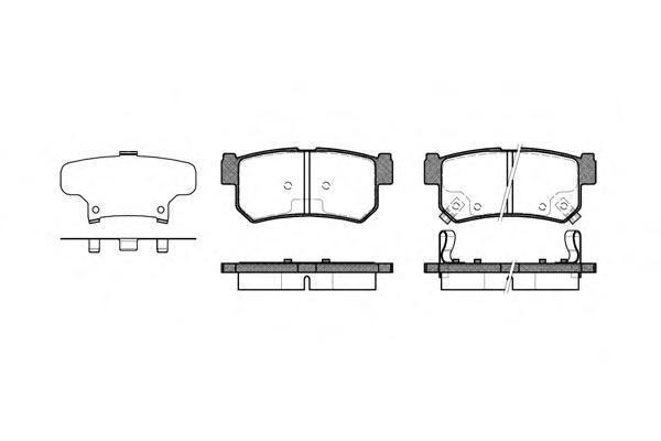 Колодки тормозные задние с датчиком Road House 274662274662