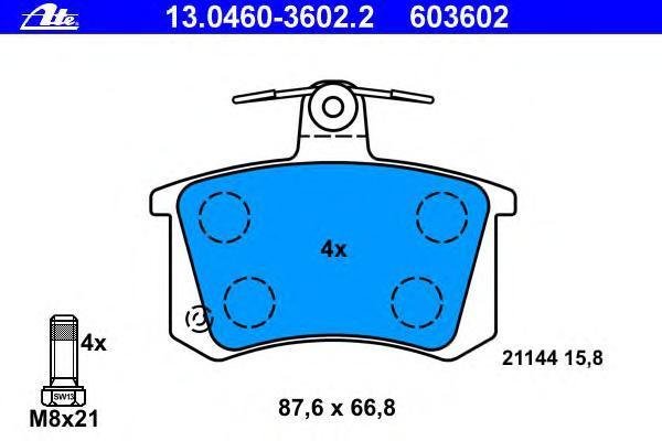 Колодки тормозные дисковые Ate 1304603602213046036022