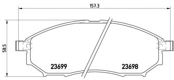 Колодки тормозные передние Brembo P56058P56058