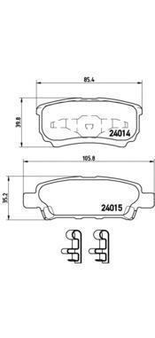 Колодки тормозные задние Brembo P54034P54034