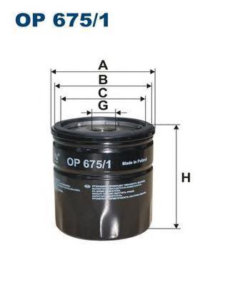 Фильтр масляный Filtron OP6751OP6751