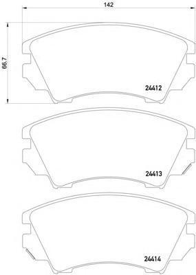 Колодки тормозные дисковые, комплект BEHR-HELLA 8DB3550130418DB355013041
