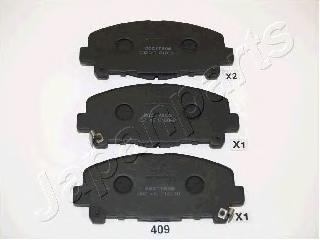 Колодки тормозные дисковые Japanparts PA409AFPA409AF
