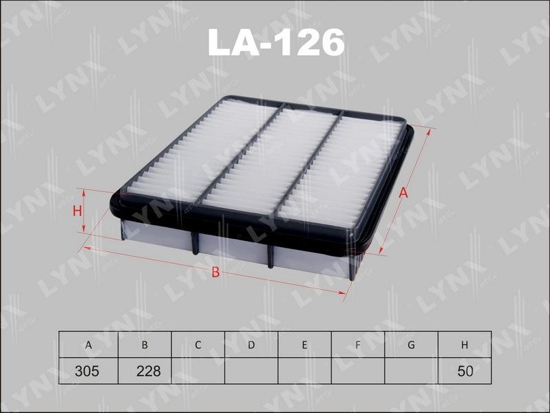 Фильтр воздушный Lynx LA126 фильтр воздушный lynx la113