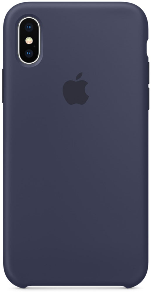 Apple Silicone Case чехол для iPhone X, Midnight BlueMQT32ZM/AСиликоновый чехол от Apple — отличное дополнение к вашему iPhone X. Он плотно прилегает к кнопкам громкости и режима сна, точно повторяет контуры телефона и при этом не делает его громоздким. Мягкая подкладка из микрофибры защищает корпус вашего iPhone. А внешняя силиконовая поверхность очень приятна на ощупь. Чехол не придётся снимать даже во время беспроводной зарядки.