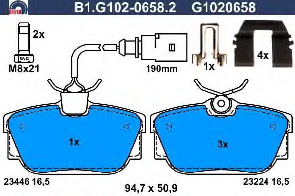 Колодки тормозные дисковые Galfer B1G10206582B1G10206582