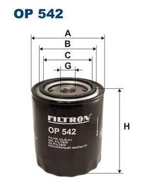 Фильтр масляный Filtron OP542OP542