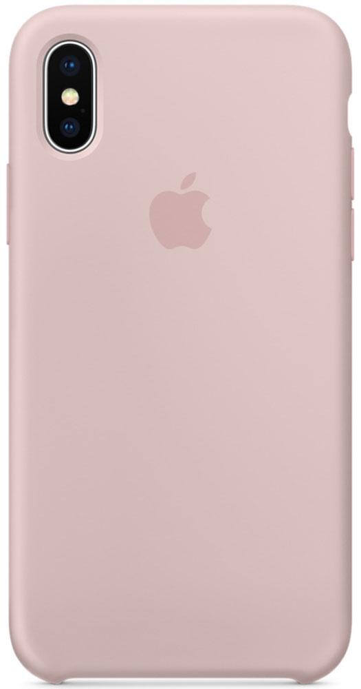 Apple Silicone Case чехол для iPhone X, Pink SandMQT62ZM/AСиликоновый чехол от Apple — отличное дополнение к вашему iPhone X. Он плотно прилегает к кнопкам громкости и режима сна, точно повторяет контуры телефона и при этом не делает его громоздким. Мягкая подкладка из микрофибры защищает корпус вашего iPhone. А внешняя силиконовая поверхность очень приятна на ощупь. Чехол не придётся снимать даже во время беспроводной зарядки.