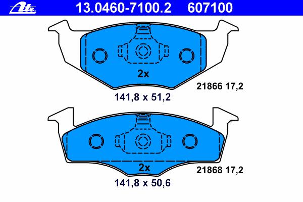 Колодки тормозные дисковые Ate 1304607100213046071002